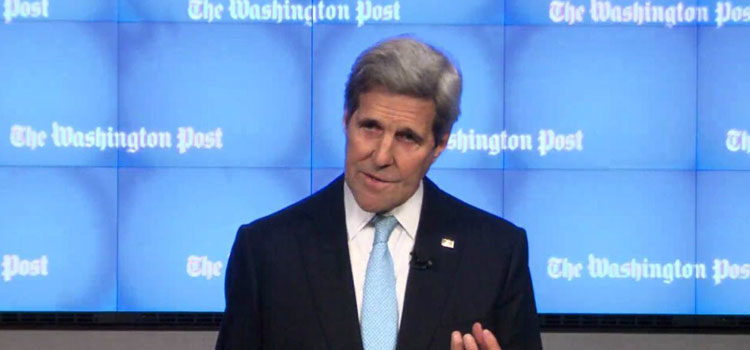 Secretary of State John Kerry At The Washington Post Grand Opening Event