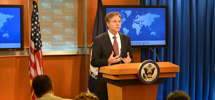"Deputy Secretary of State Antony ""Tony"" Blinken releases the 2015 Annual Report on International Religious Freedom at the U.S. Department of State in Washington, D.C. on August 10, 2016. [State Department Photo/ Public Domain]"