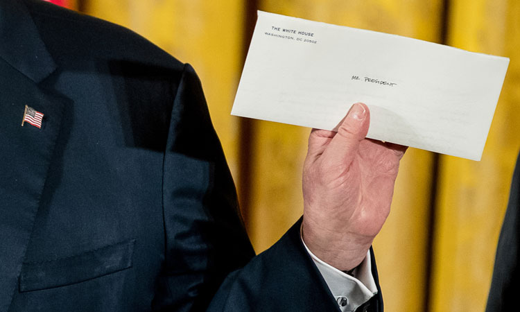 Presidential letters to successors: What do they say?