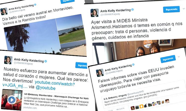Cuenta oficial de Kelly Keiderling, Embajadora de los Estados Unidos en Uruguay.