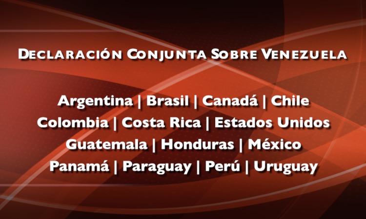 declaración conjunta sobre venezuela