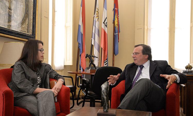 Amb Keideling e Int. Jose Falero