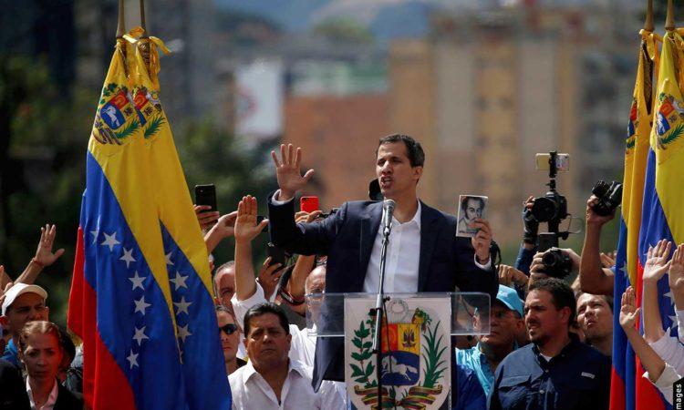 Presidente de la Asamblea Nacional de Venezuela Juan Guaidó como el Presidente Interino de Venezuela (AP)